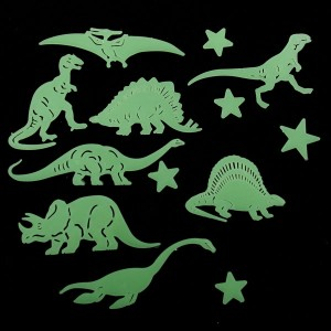 Glow in the dark dino's en sterren - D10970