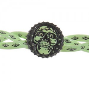 Glow in the dark piratenarmband - S10971a