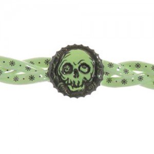 Glow in the dark piratenarmband - S10971b