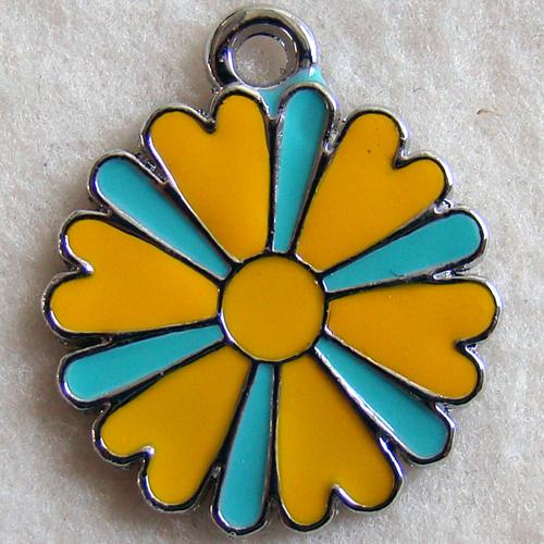 Bedel bloem geel blauw s thesouq