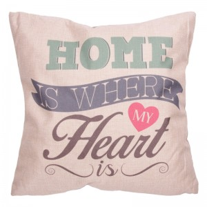 Kussen 'home is where my heart is' - D12470